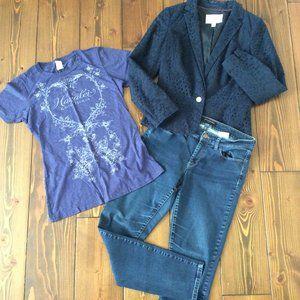 3/$15: Banana Republic 30 (10) Skinny Jeans